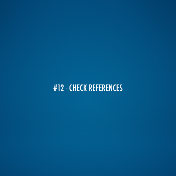 Check References